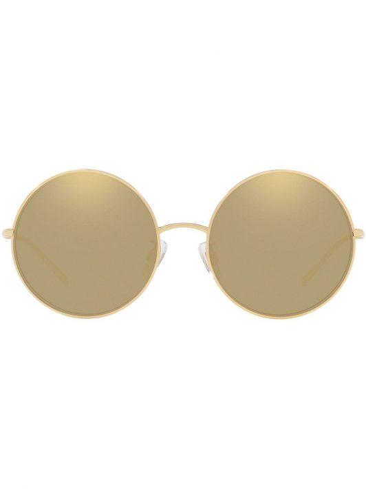 Dolce & Gabbana Eyewear 18kt vergoldete Sonnenbrille