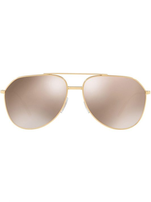 Dolce & Gabbana Eyewear Getönte Pilotenbrille - Gold