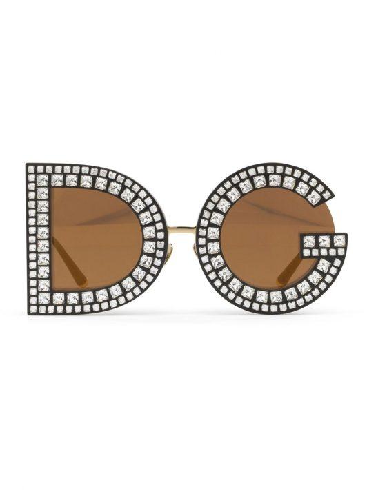Dolce & Gabbana Eyewear Runde Sonnenbrille - Gold