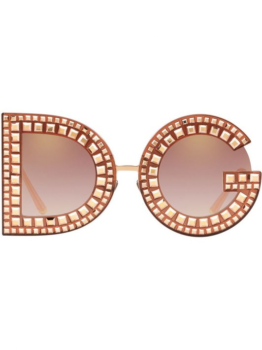 Dolce & Gabbana Eyewear Runde Sonnenbrille - Rosa