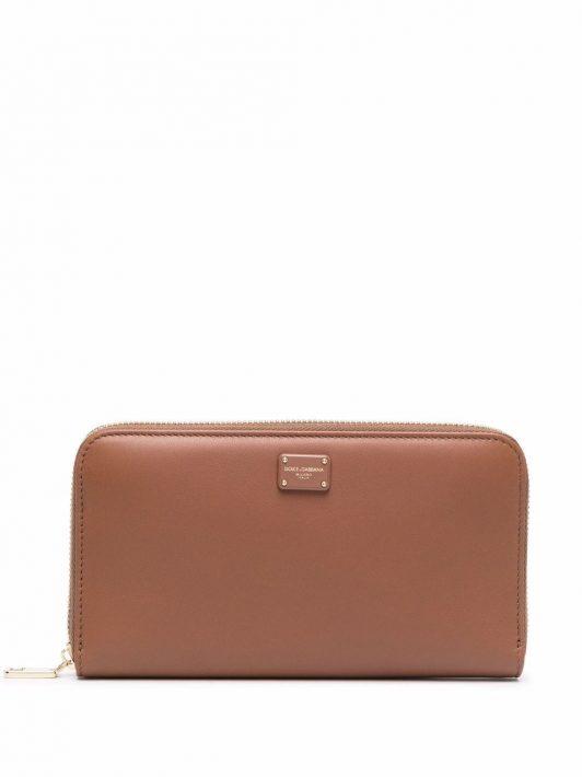 Dolce & Gabbana Klassisches Portemonnaie - Braun
