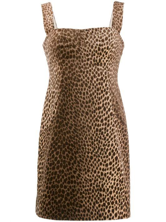 Dolce & Gabbana Pre-Owned 1990's Kleid mit Leoparden-Print - Nude