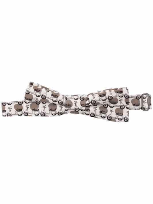Dolce & Gabbana Vespa-print cotton bow tie - Weiß