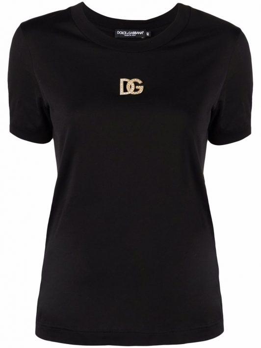 Dolce & Gabbana logo-plaque short-sleeve T-shirt - Schwarz