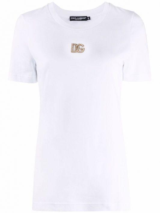 Dolce & Gabbana logo-plaque short-sleeve T-shirt - Weiß