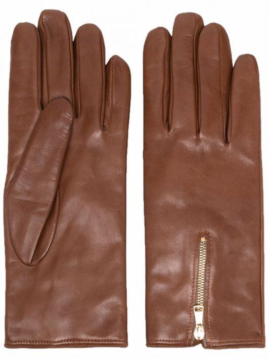 Eleventy Handschuhe mit Reißverschluss - Braun