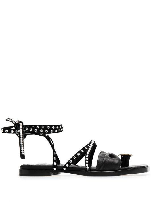 Ellery 'Lepore' Sandalen mit Nieten - Schwarz