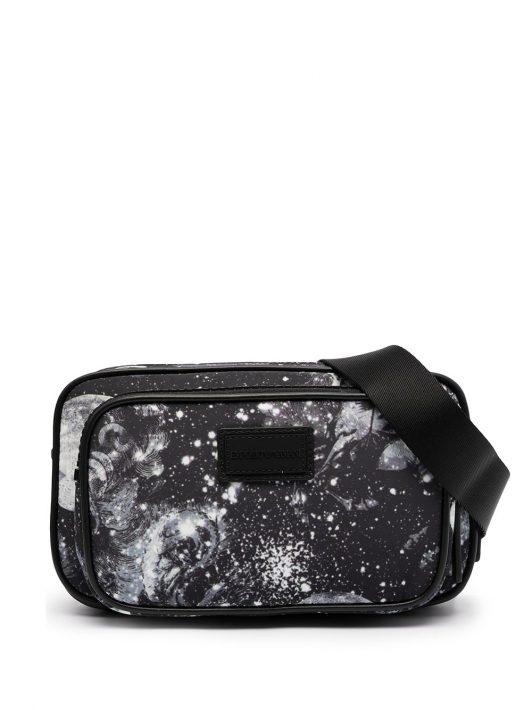 Emporio Armani printed belt bag - Schwarz