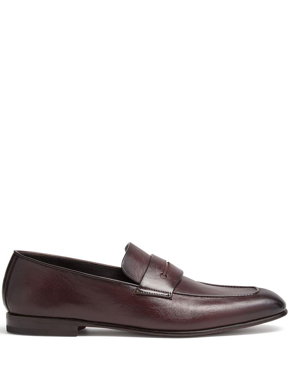 Ermenegildo Zegna Nappa leather loafers - Rot