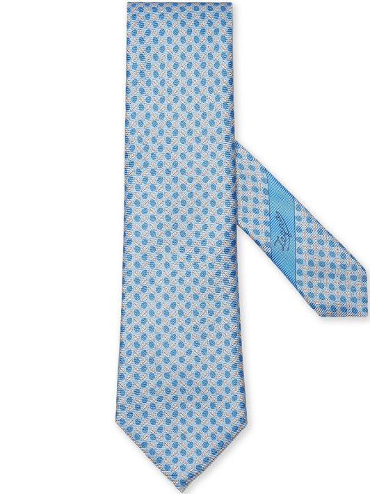 Ermenegildo Zegna leaf-print silk tie - Blau