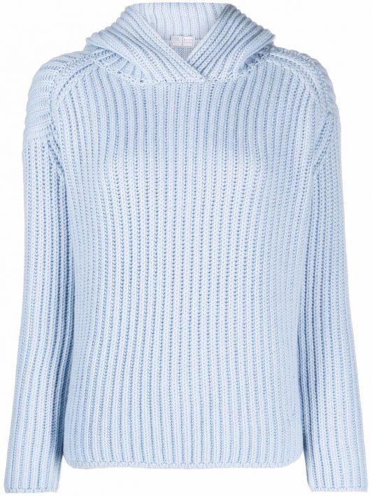 Fedeli long sleeve rib knit jumper - Blau