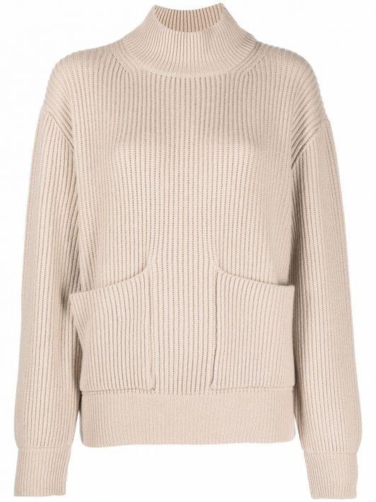 Fedeli patch-pocket cashmere jumper - Nude