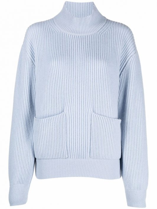 Fedeli rib-knit pocket jumper - Blau