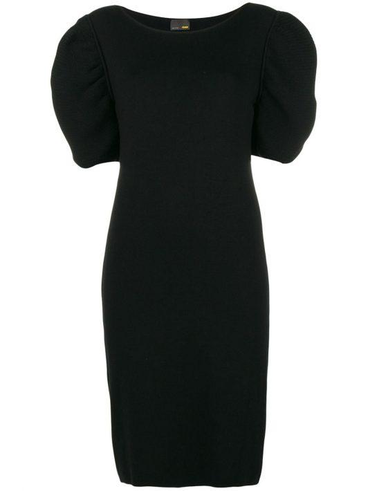 Fendi Pre-Owned Kurzärmeliges Kleid - Schwarz
