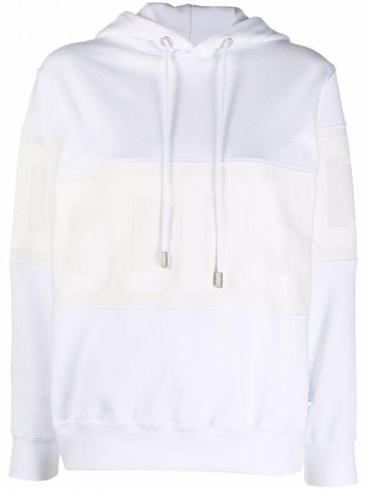 Gcds logo-print cotton hoodie - Weiß