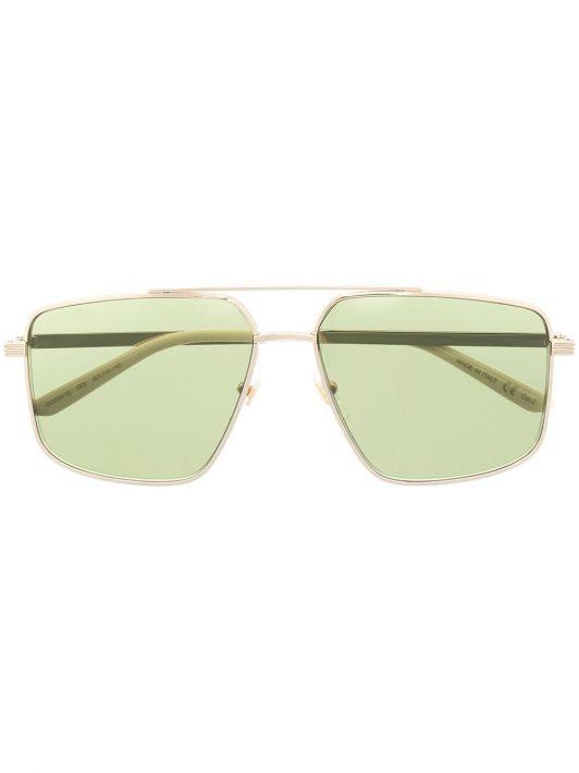 Gucci Eyewear Pilotenbrille mit Logo - Silber