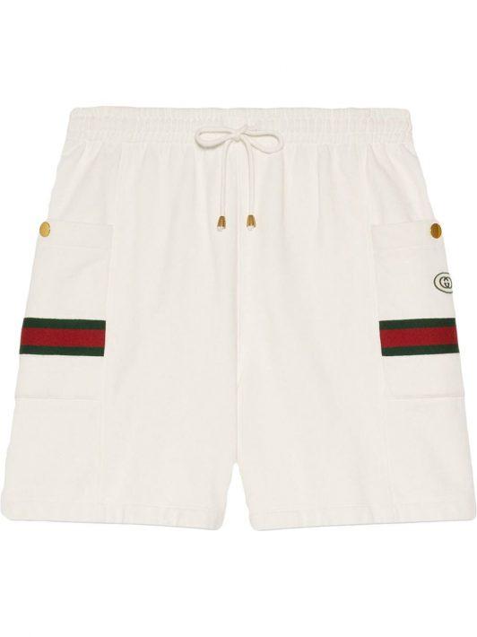 Gucci Joggingshorts mit Webstreifen - Weiß