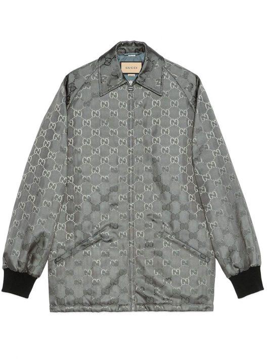 Gucci Mantel mit Muster - Grau