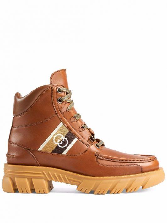 Gucci Stiefel mit GG - Braun