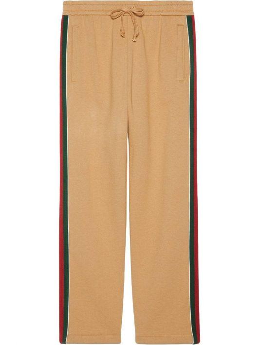 Gucci Web-stripe trim track pants - Nude