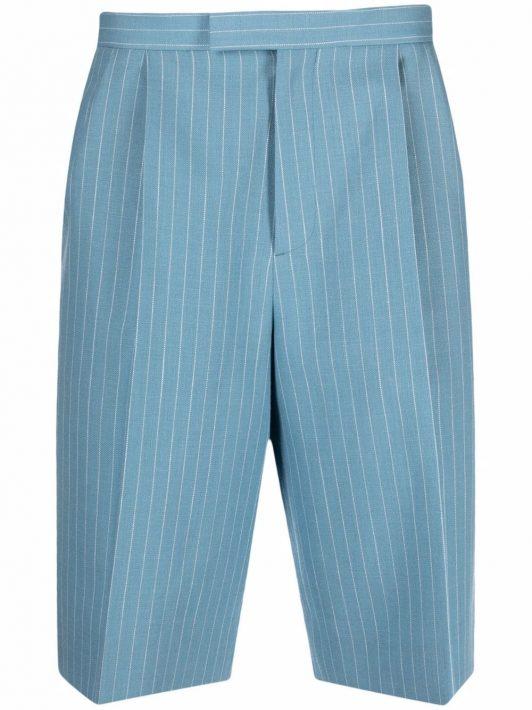 Gucci pinstripe knee-length shorts - Blau