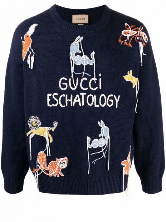 Gucci x Freya Hartas Pullover - Blau