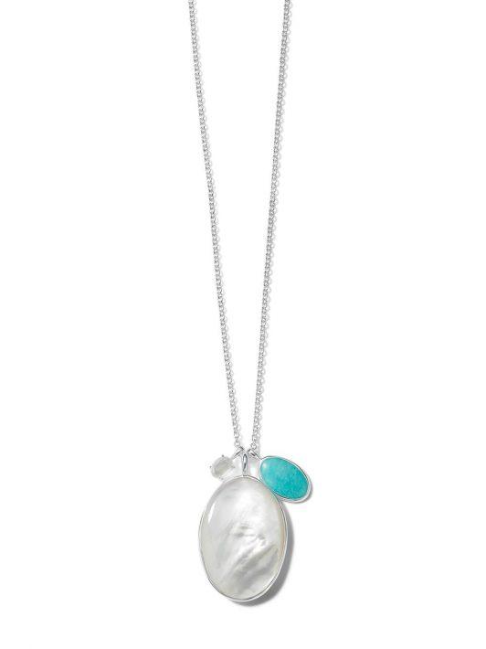 IPPOLITA Luce Halskette mit Steinanhängern - Silber