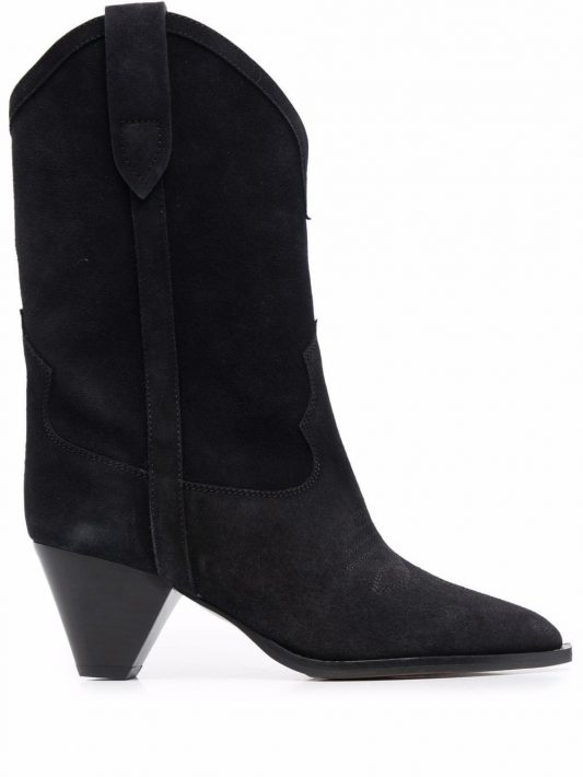 Isabel Marant Duerto 40 western suede boots - Schwarz