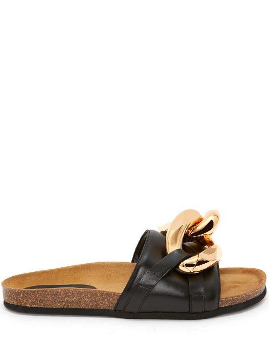 JW Anderson Chain slip-on sandals - Schwarz
