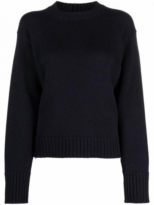 Jil Sander cashmere-blend knitted jumper - Blau