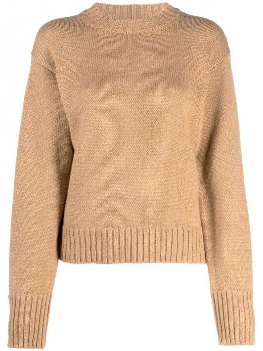 Jil Sander cashmere-blend knitted jumper - Braun