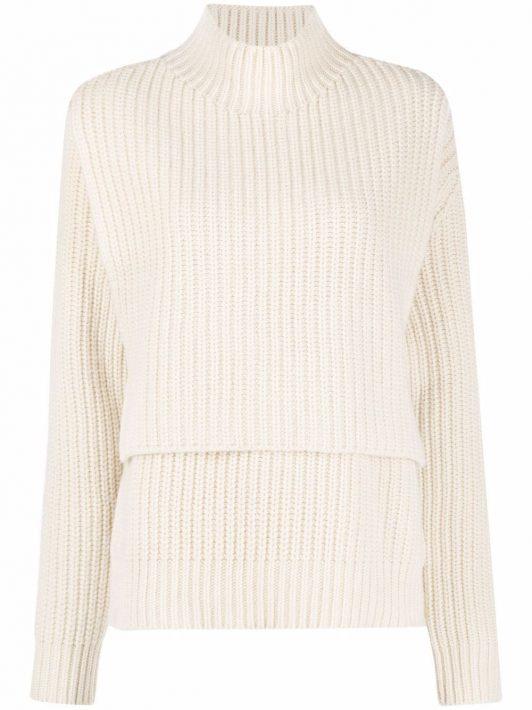 Jil Sander ribbed knitted jumper - Weiß
