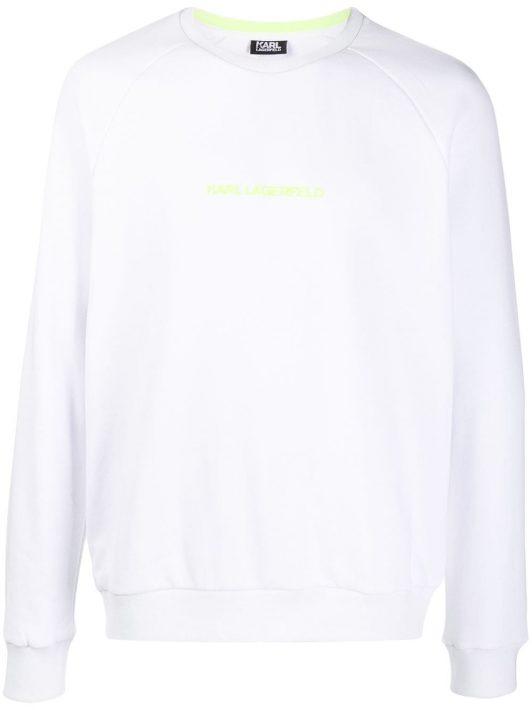 Karl Lagerfeld Sweatshirt mit Logo - Weiß