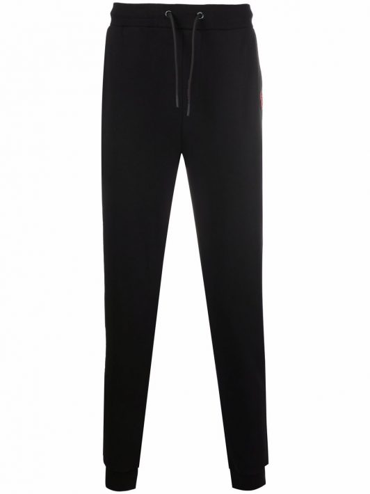 Karl Lagerfeld embroidered-logo patch track trousers - Schwarz