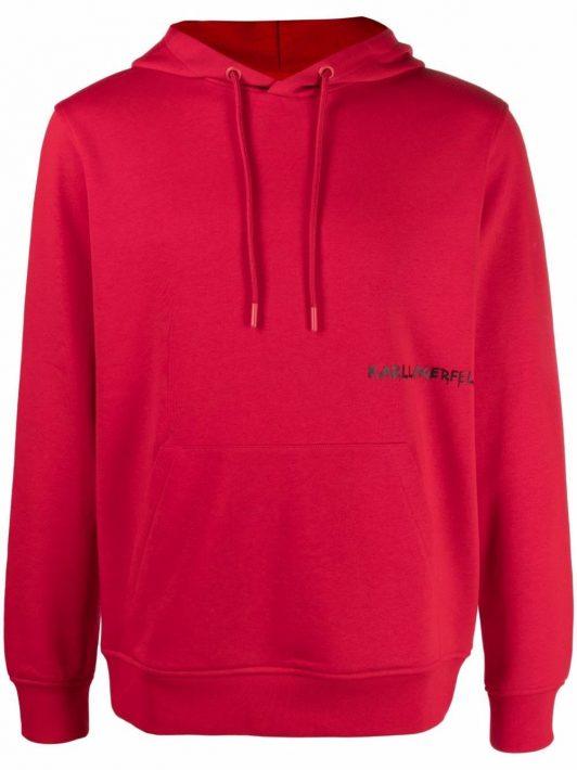 Karl Lagerfeld logo-print hoodie - Rot