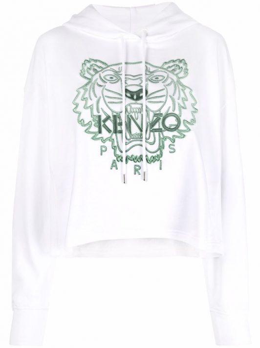 Kenzo Hoodie mit Stickerei - Weiß