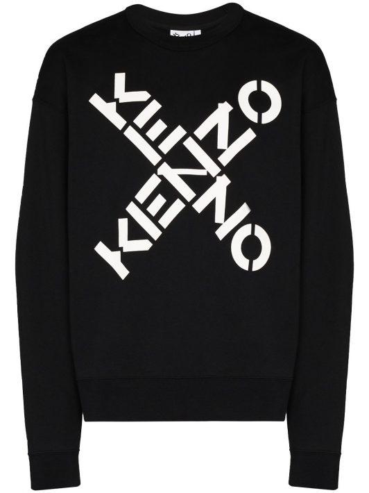 Kenzo Sweatshirt mit Logo-Print - Schwarz