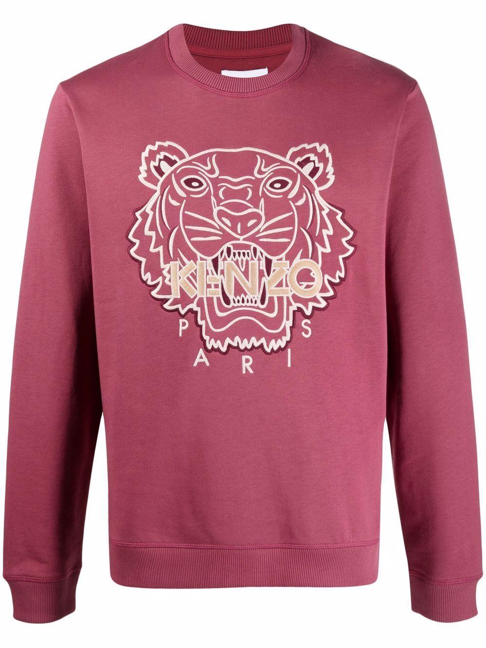 Kenzo logo-embroidered sweatshirt - Rosa