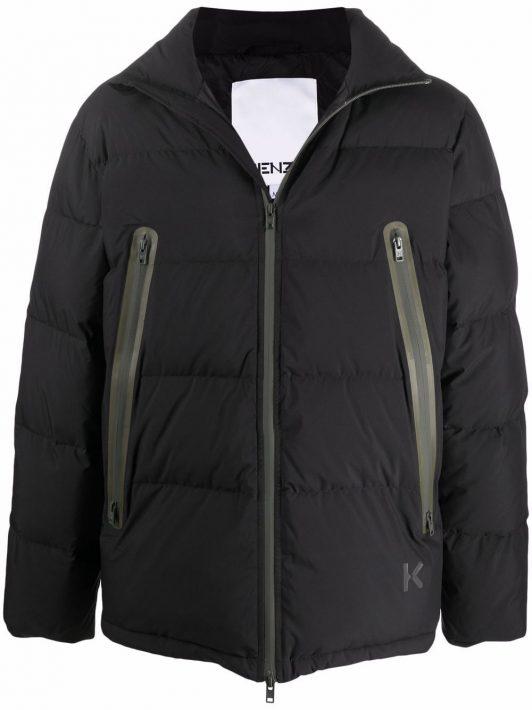 Kenzo zip-up down jacket - Schwarz