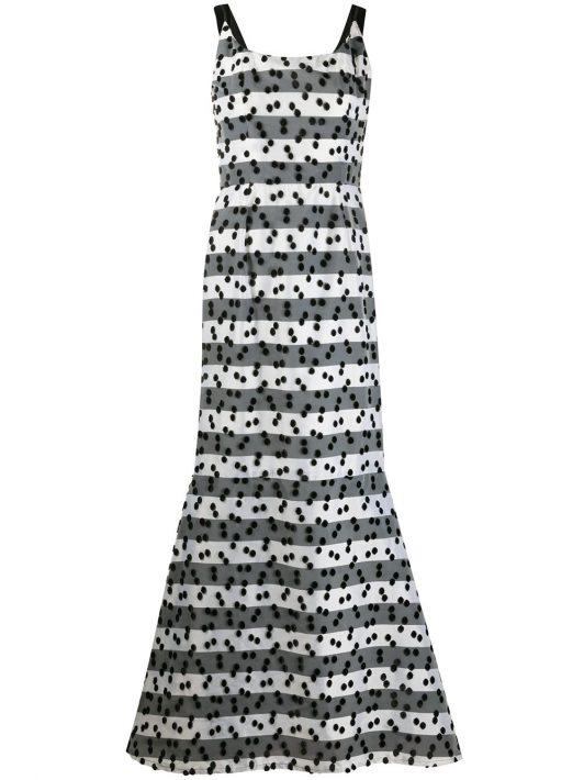 LANVIN Pre-Owned Besticktes Kleid - Schwarz