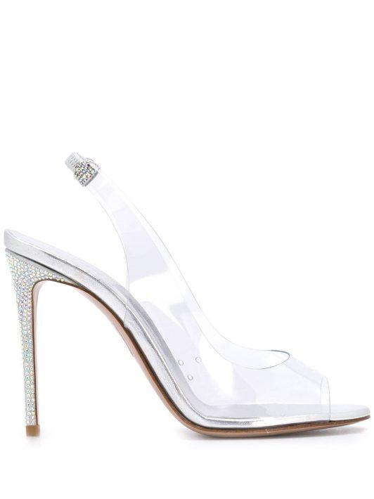 Le Silla 'Divina' Slingback-Sandalen - Weiß