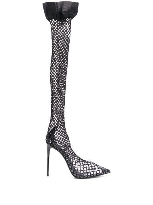 Le Silla 'Gilda' Sock-Pumps - Schwarz