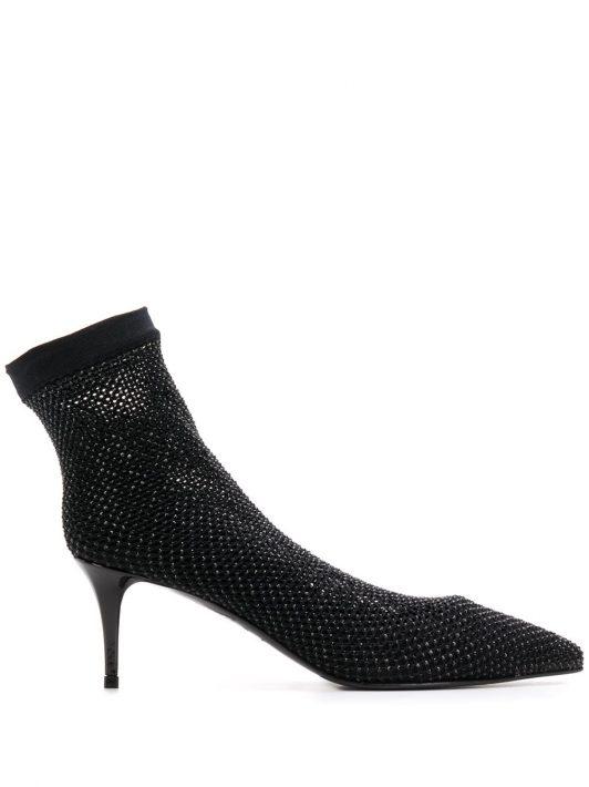 Le Silla Spitze Sock-Pumps - Schwarz