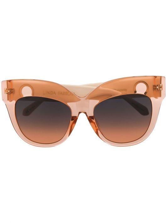 Linda Farrow 'Dunaway' Oversized-Sonnenbrille - Rosa