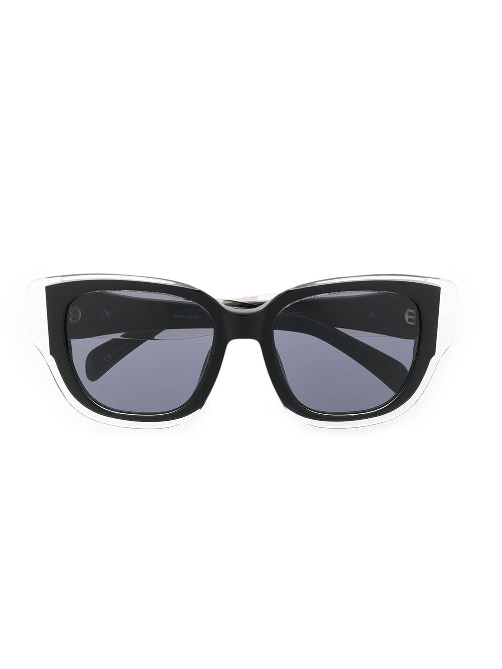 Linda Farrow 'Senna' Oversized-Sonnenbrille - Schwarz