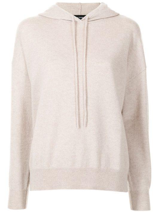 Lisa Yang Luella knit hoodie - Weiß