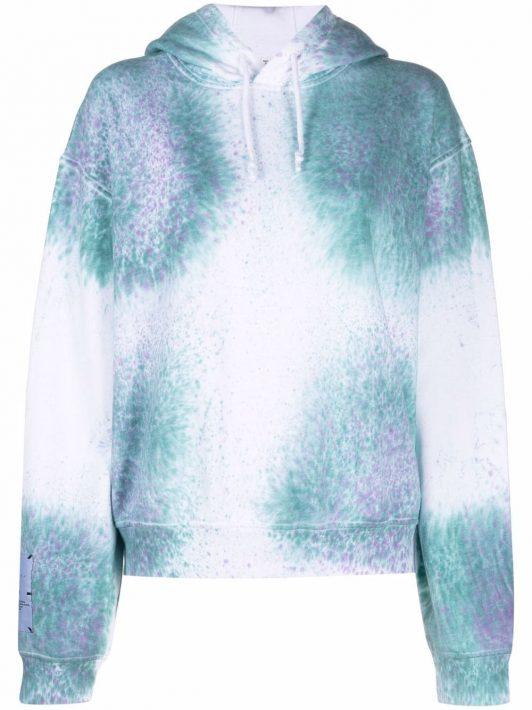 MCQ 'Breathe' tie-dye cotton hoodie - Blau