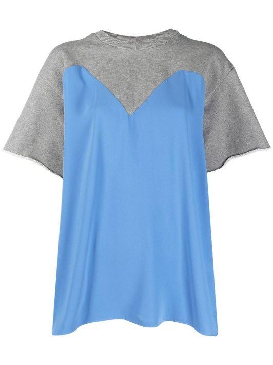 MM6 Maison Margiela T-Shirt im Layering-Look - Grau