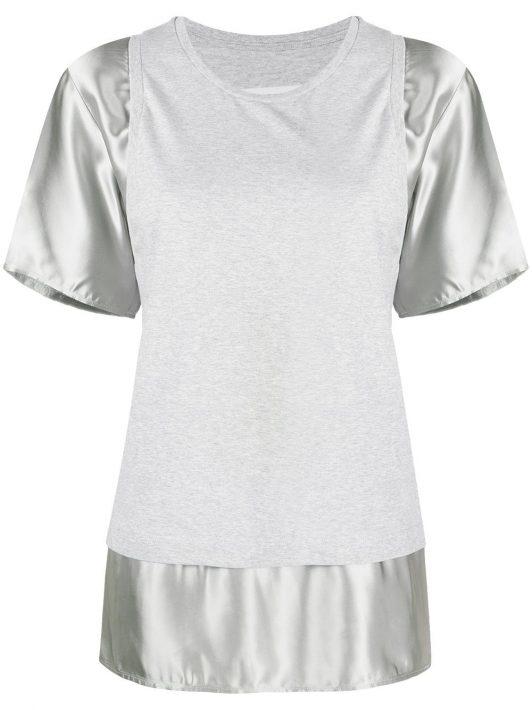 MM6 Maison Margiela T-Shirt mit Kontrasteinsätzen - Grau