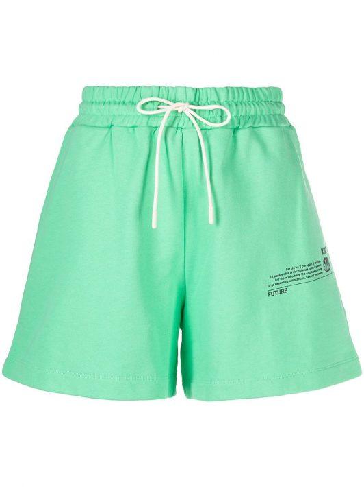 MSGM Shorts mit Print - Grün